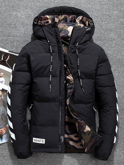 Men's Thickening Down Jacket for Winter - BLACK M