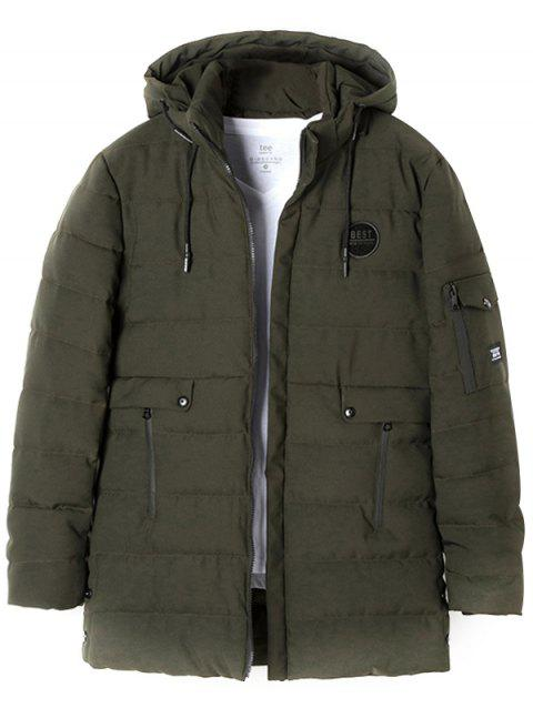 Long Trend Hooded Cotton Coat - ARMY GREEN 3XL
