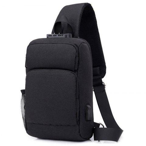 Business Anti-theft Password Lock Leisure Travel Multi-function Smart Backpack - BLACK