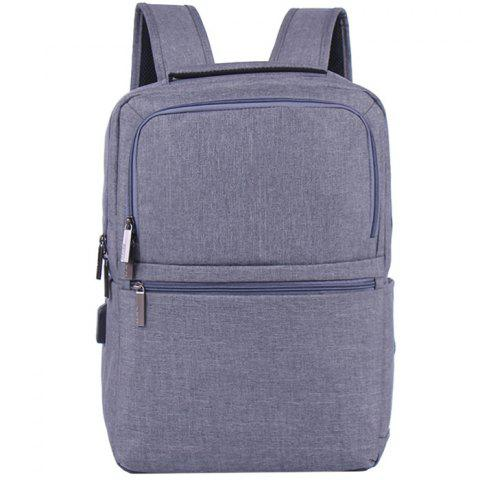 Waterproof Travel Business Multi-functional Fashion Backpack - GRAY CLOUD