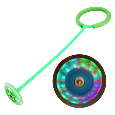 Flash Jumping Ball Dazzle Dance Ryukyu Rotating Jump Ring Toy Adult Children Fitness - GREEN