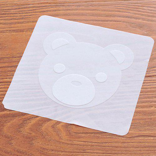 Multifunctional Silicone Plastic Food Grade Lid Seal Cover Fresh Cover - WHITE