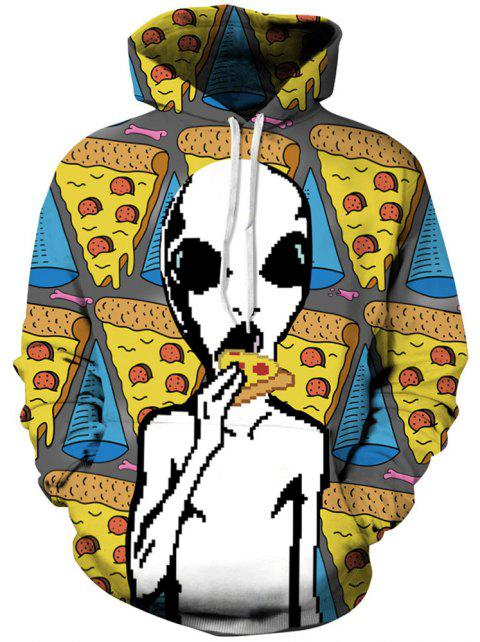 Autumn and Winter Digital Printing Alien Men's Long-Sleeved Sweate - multicolor L