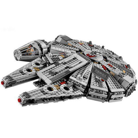 1381pcs Classic Film and Television Building Blocks Assembling Educational Toy - GRAY CLOUD