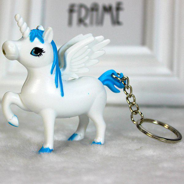 Unicorn Glow Vocal Keychain Pendant Cute Creative LED Jewelry Car Claw Machine Toy - DEEP SKY BLUE