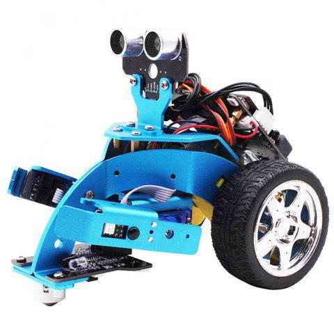 Yahboom Hellobot Microbit Starter Robot Kit DIY 3 in 1 Advanced Mechanical Aluminium Alloy for STEM Education - DODGER BLUE