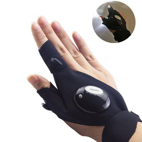 z20 Fishing Survival Camping Hiking Rescue Glowing Gloves - BLACK RIGHT HAND