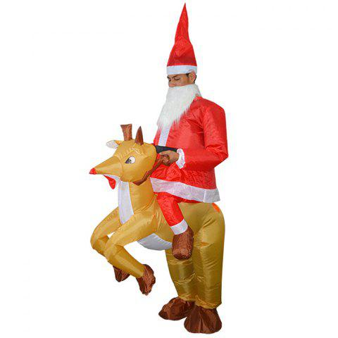 Halloween Christmas Elk Cosplay Inflatable Suit Costume Props - RED