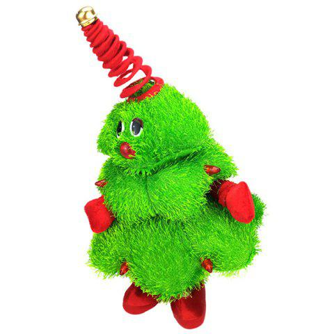 Dancing Christmas Tree Electric Plush Doll - GREEN APPLE