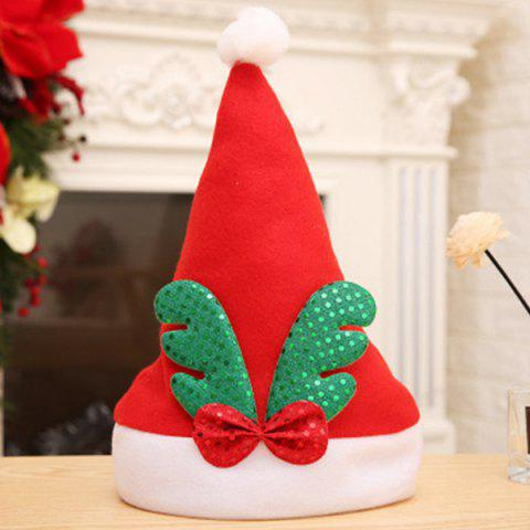 Christmas Hat Antlers Sequins Plush Hats Kids Hats Christmas Decoration Hats Holiday Supplies - RED GREEN ELK