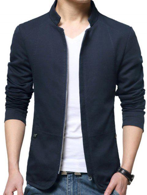 Casual Stand Collar Jacket for Man - CADETBLUE 5XL