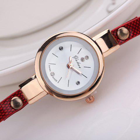 XR1297 PU Strap Ladies Bracelet Watch - BROWN