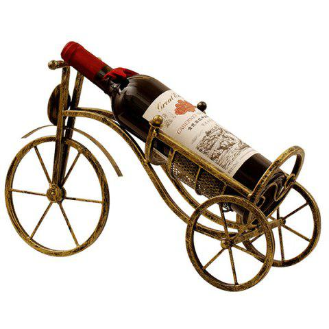 Creative Retro Wrought Iron Wine Rack for Home Decoration - WOOD