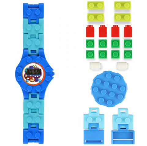 DIY Electronic Building Blocks Watch Kids Education Toy - CRYSTAL BLUE 2PCS