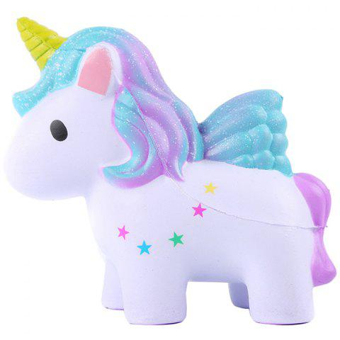 Simulation Pu Unicorn Slow Rebound Decompression Crafts Toy with Fragrance - multicolor