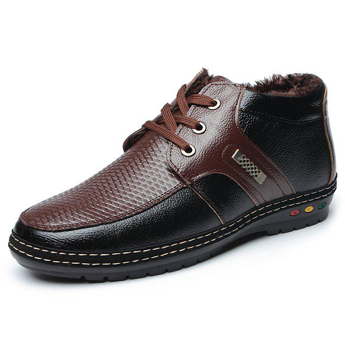Men Casual Warm Lace-up Cotton-padded Comfortable Shoes