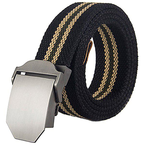 Thickened Canvas Belt with Automatic Buckle - multicolor C