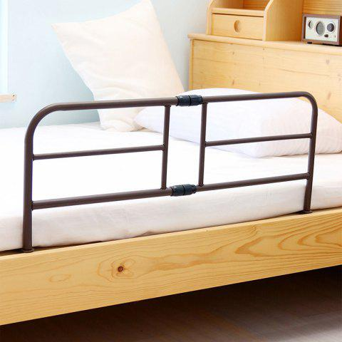 Bedside Guardrail Baffle Baby Bed 1.5, 1.8-2 M Bed Fence Retractable Guard Railing - DEEP BROWN