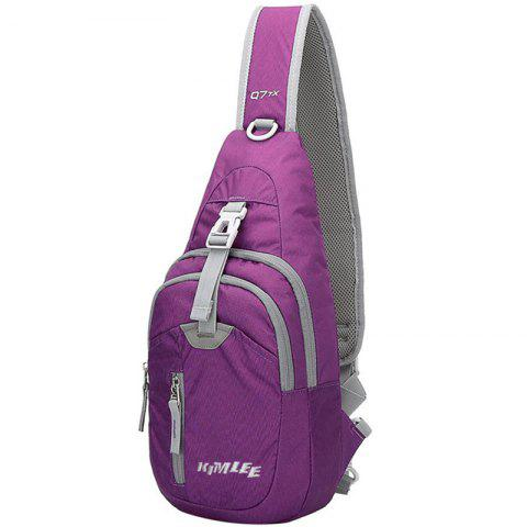 Kimlee Crossbody Pack Chest Shoulder Sling Backpack One Strap Lightweight Pouch - PURPLE