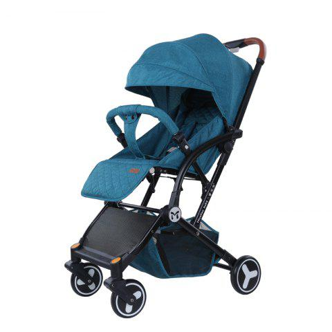 Micalinebaby Multifunctional Foldable Stroller Trolley Case for Babies - PEACOCK BLUE