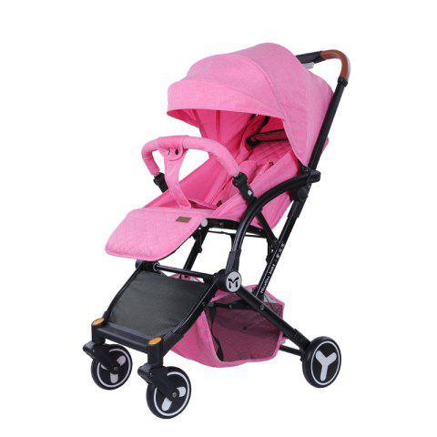 Micalinebaby Multifunctional Foldable Stroller Trolley Case for Babies - PINK ROSE