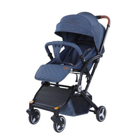Micalinebaby Multifunctional Foldable Stroller Trolley Case for Babies - SLATE BLUE