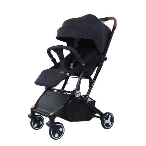 Micalinebaby Multifunctional Foldable Stroller Trolley Case for Babies - BLACK