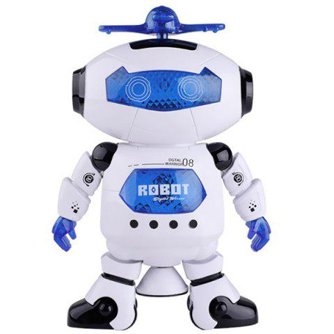 Dancing Electric Robot 360-degree Rotating Smart Toy for Kids - MILK WHITE