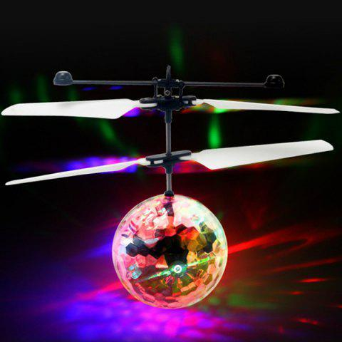 Best Selling Colorful Induction Crystal Ball Suspension Lighting Electric Toy - MILK WHITE