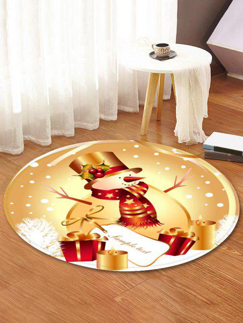 Christmas Snowman Gift Pattern Water Absorption Area Rug