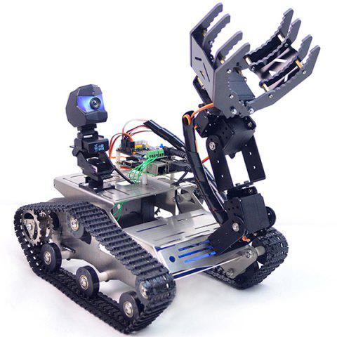 XiaoR-GEEK WiFi Bluetooth4.2 Video Smart Car Robotic Robot Kit for Raspberry Pi 3B+ - BLACK A2 LARGE CLAW ROBOT ARM