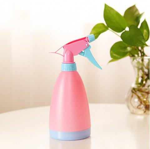 Candy Color Spray Bottle Watering Can Watering Plastic Hand Pressure Adjustable Water Spray Bottle - PINK