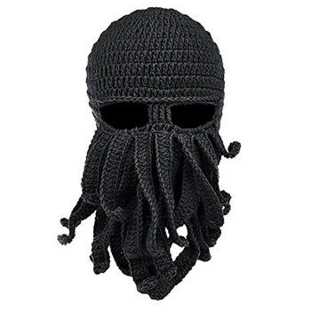 Men Hat Hand-knitted Wool Warm Casual Winter
