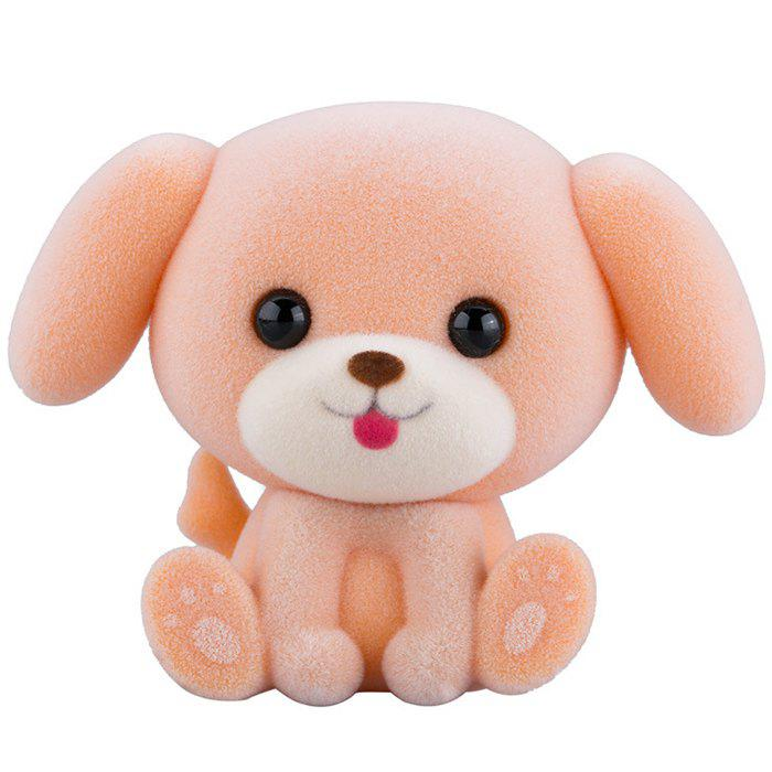 BXSJN168044 Cute Puppy Flocking Toy Girl Decorative Ornaments Creative Doll Birthday Christmas Gift - ROSE