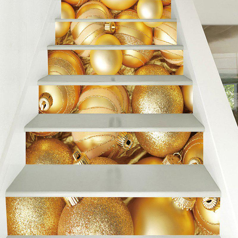 6 Stair Stickers Christmas Decoration Painting Golden Egg - GOLD 6PCS X 39 X 7 INCH( NO FRAME )
