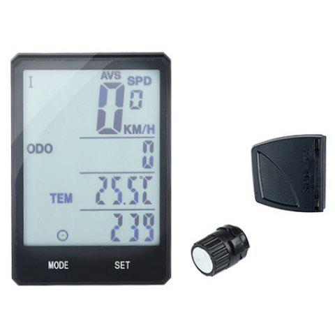 INBIKE CX9 2.8 Large Screen Bicycle Rainproof Speedometer Odometer Cycling Measurable Stopwatch - BLACK WIRED WITH EXTENSION MOUNT
