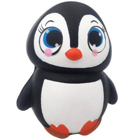 TTPU1037 Female Penguin Slow Rebound Christmas Squishy Decompression Toy - BLACK