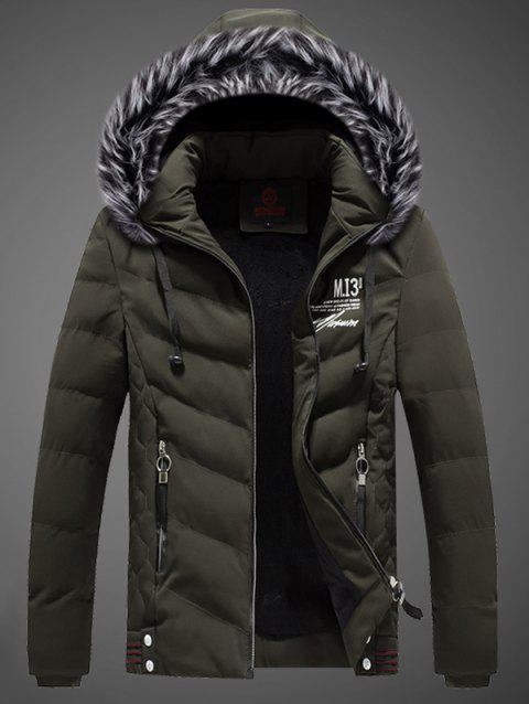 Men Parka Cotton Trend Winter Handsome Coat - ARMY GREEN 3XL