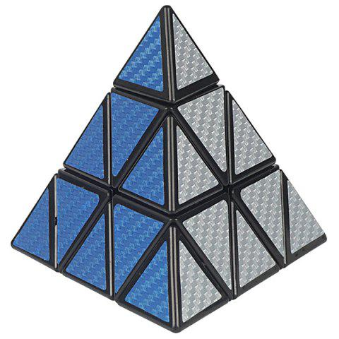 Children Puzzle Holy Hand Third-Order Pyramid Cube - CHAMPAGNE GOLD