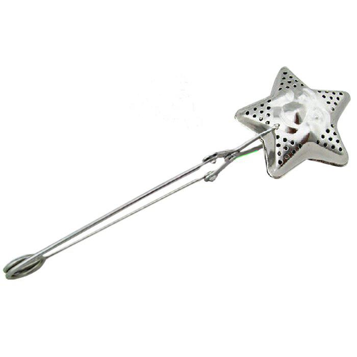 9 - FZ3655 Stainless Steel Five - pointed Star Smile Tea Clip Tea Strainer