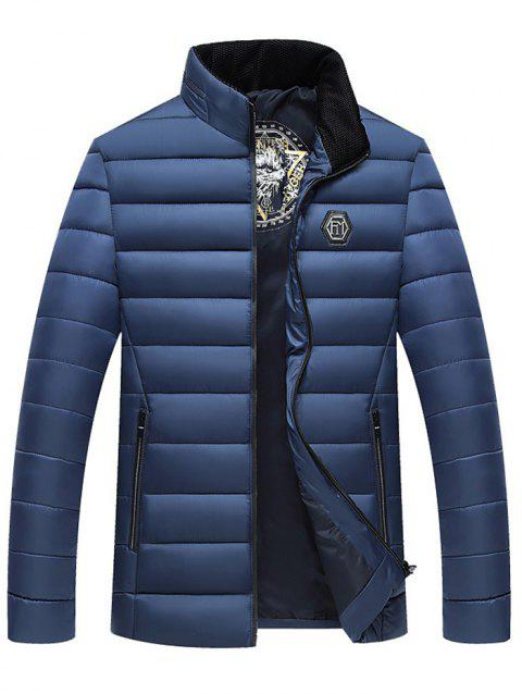 Down Cotton Men Thick Winter Jacket Down Coat - CADETBLUE 3XL