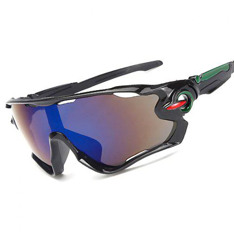 Outdoor Sports Riding Explosion-proof Sunglasses - multicolor C