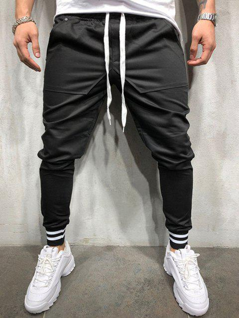 2019 Personality Hip Hop Style Stitching Cotton Casual Pants For Men