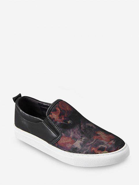Tie Dye Loafer Shoes - RED EU 43