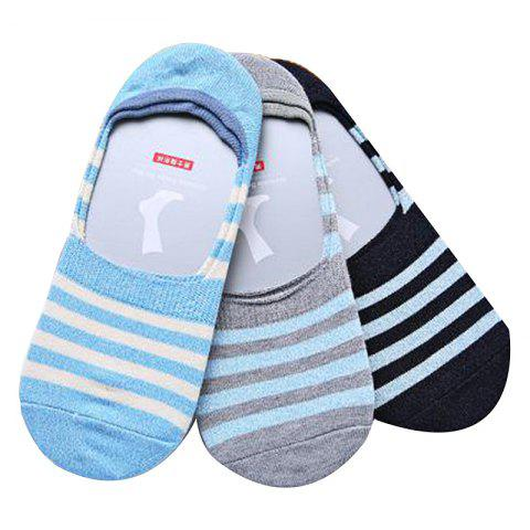 Socks, stripes, men's socks - BLACK REGULAR