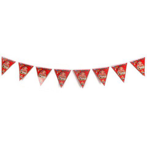 Shopping Mall Shop Decorations Non-woven Christmas Hanging Flags - multicolor A
