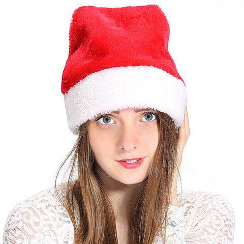Plush Adult Christmas Hat Santa Hat Christmas Hat - RED
