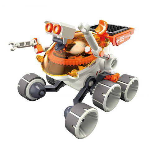 GE - 684 Solar Power Machinery Gear Power Adventure Vehicle Educational Toy - ORANGE
