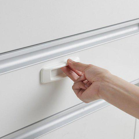 Rectangular Adhesive Type Auxiliary Door And Window Handle Multi-purpose Refrigerator Cabinet Door Handle - WHITE