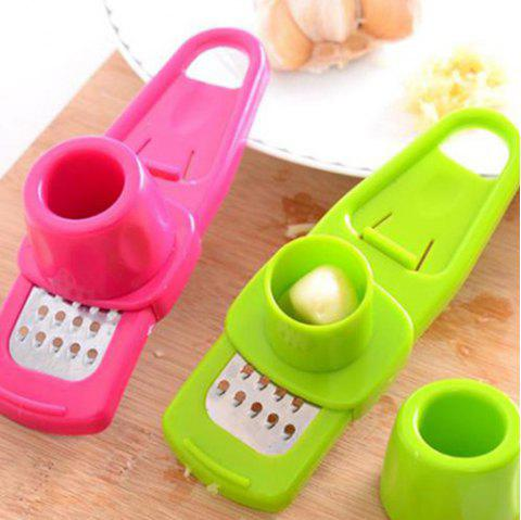 Multifunctional Kitchen Simmering Garlic Presser - ROSE RED